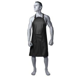 kink wet works master apron forklæde latex tøj
