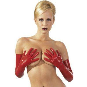 latex handsker rød tøj
