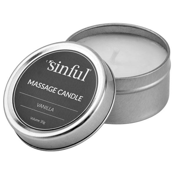 Vanilje massagelys