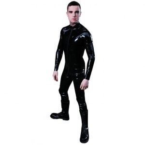 Mister B Rubber Full Bodysuit med Lynlås