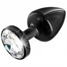 Diogol Anni Black T3 Cristal Butt Plug 35 mm