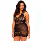Leg Avenue Net Mini Kjole Plus Size