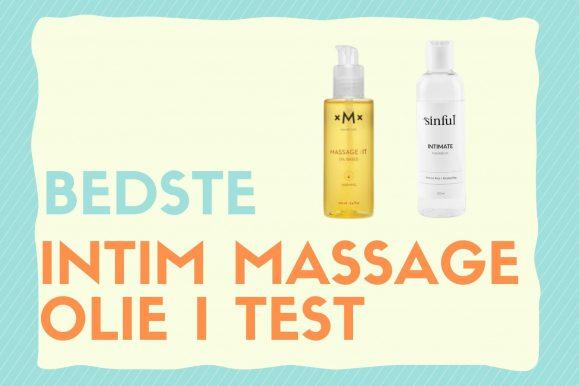 Massage olie til intim brug: De bedste i test