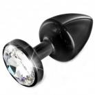 Diogol Anni Black T2 Cristal Butt Plug 30 mm