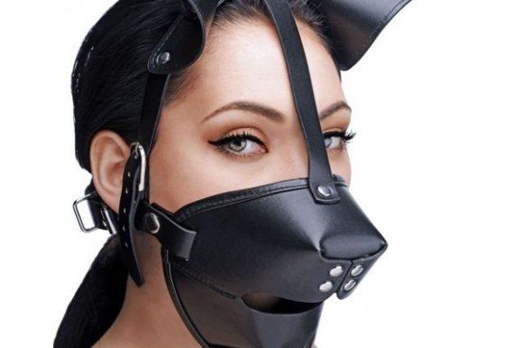 Dog Mask: Fetish hunde-maske til submissive